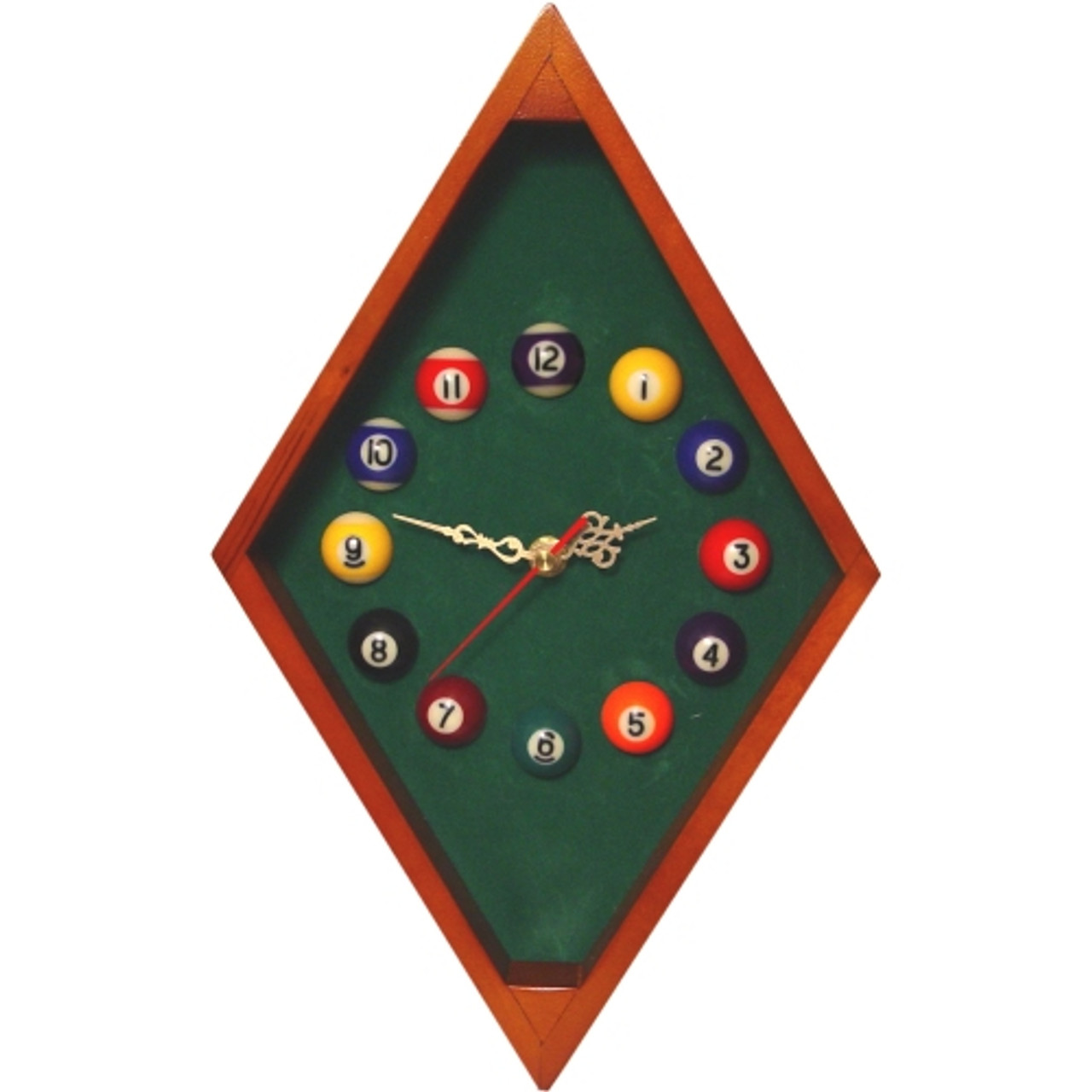 Diamond Oak Billiards Clock