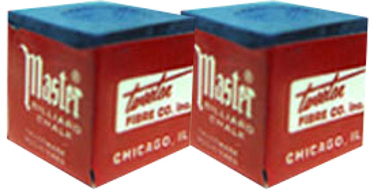 Masters Pool Cue Chalk, Blue 2-Pack