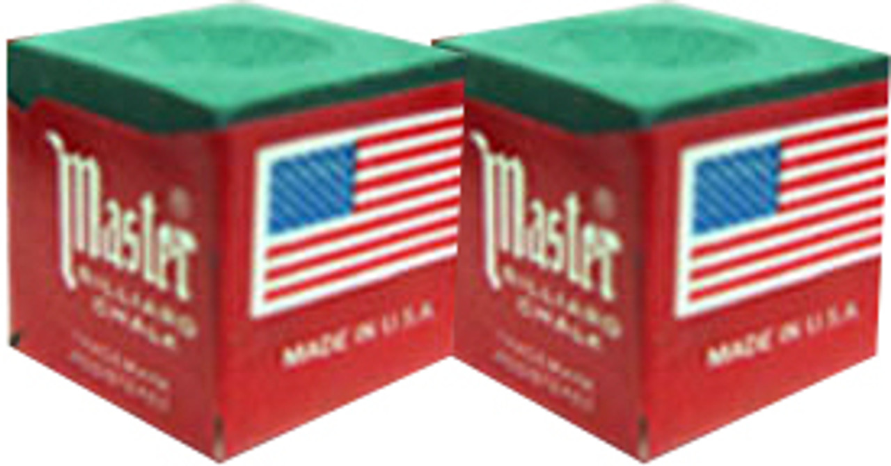 Billiards Chalk Holders with Covers 2 Pack Master Square Pool