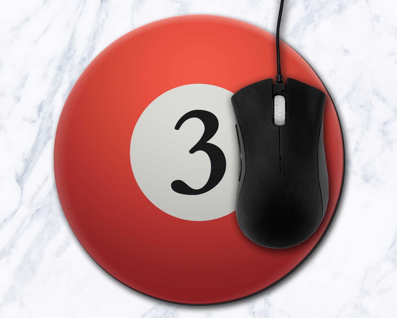 Three Ball 8 inch Round Mousepad