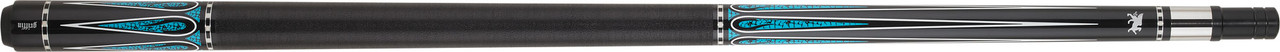 Griffin - Black w/ White Teardrop & Turquoise Points Pool Cue