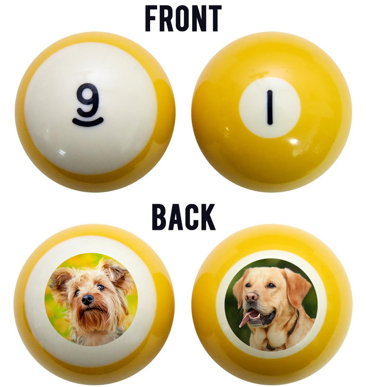 Dogs Billiard Ball Set