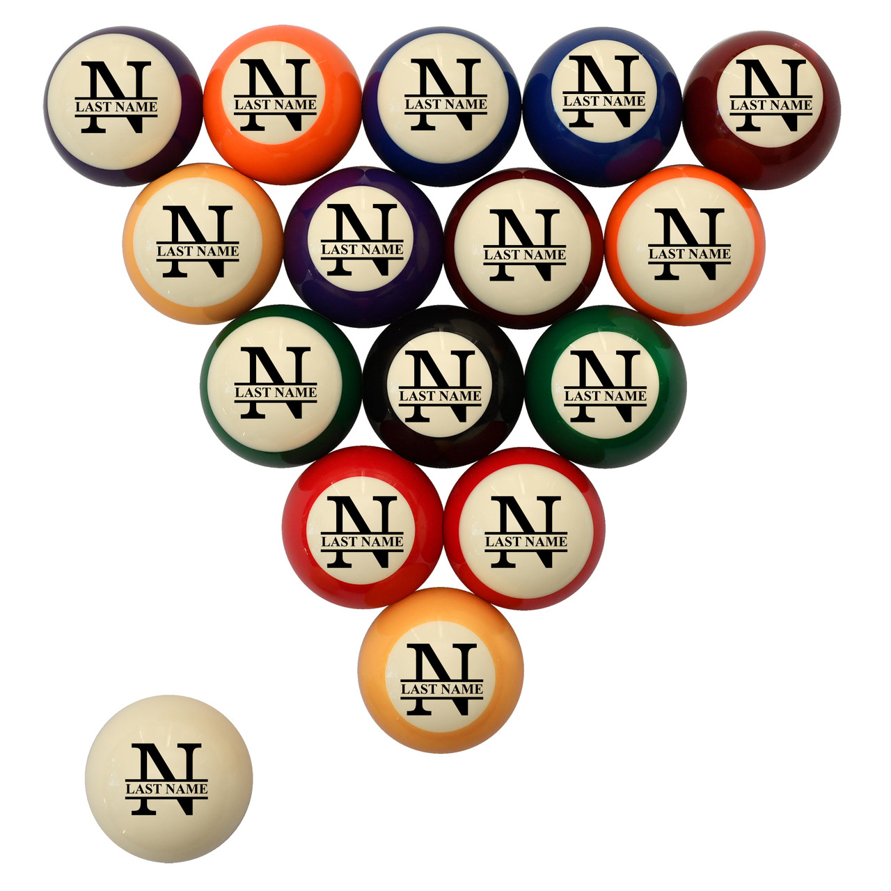 Family Name Billiard Ball Set