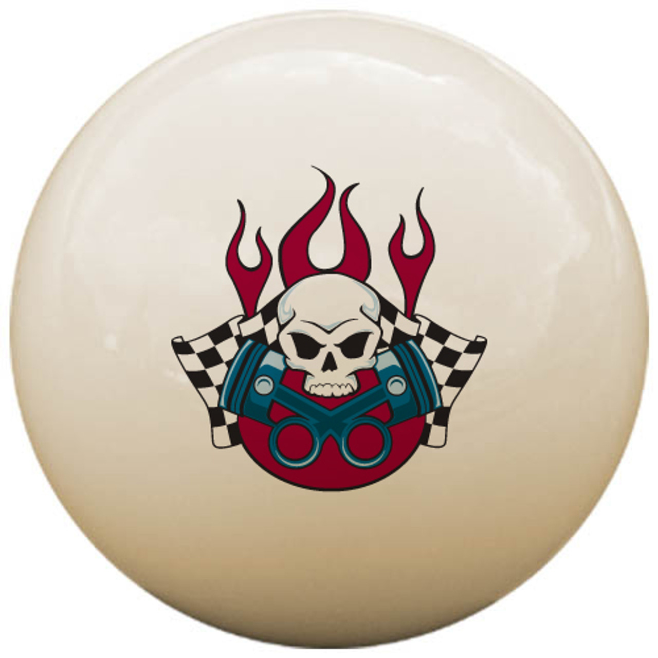 Custom Pool Cue Ball - Gearhead