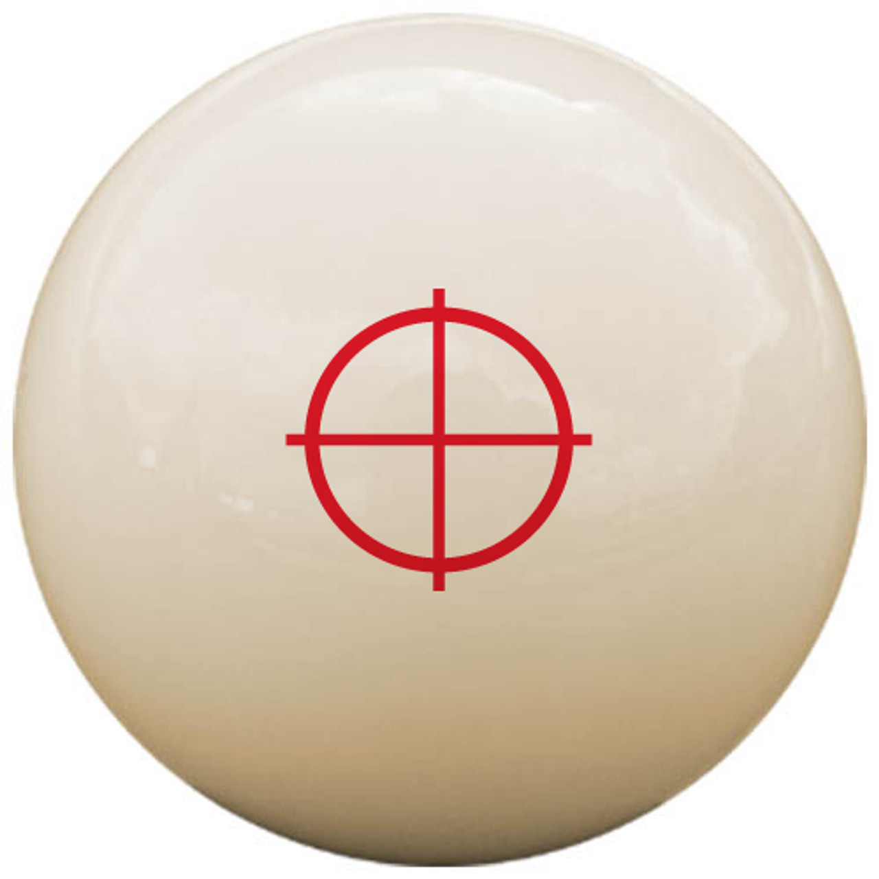 Custom Pool Cue Ball - Crosshairs