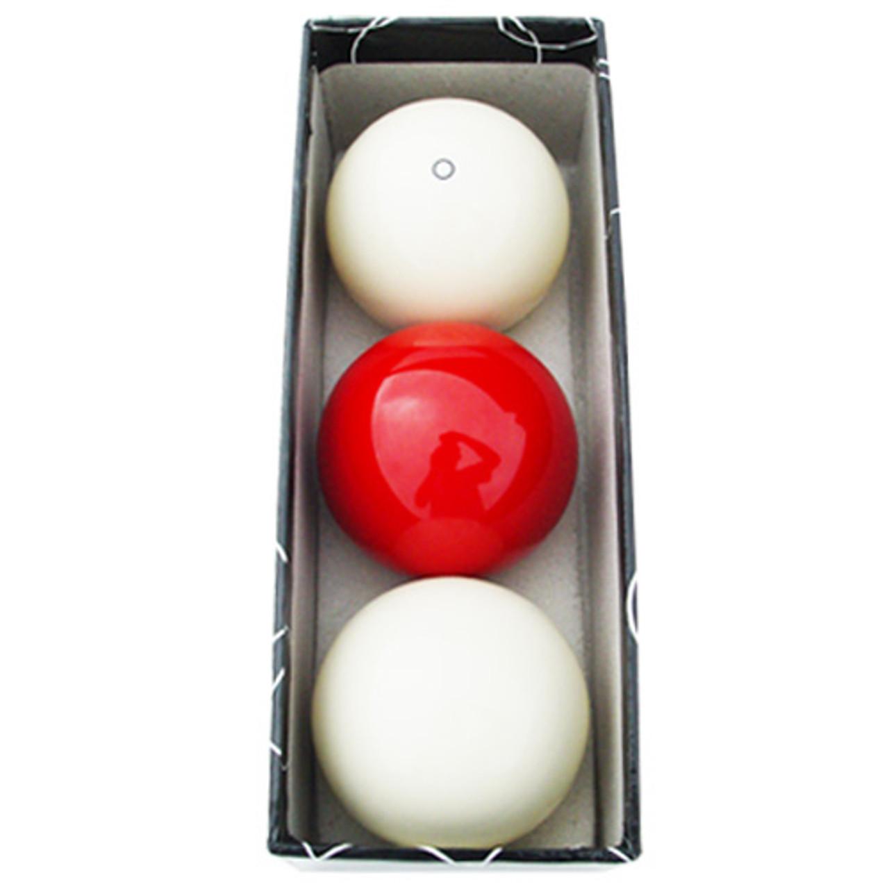 Sterling Carom Balls: White, Red, White w/Red Circle