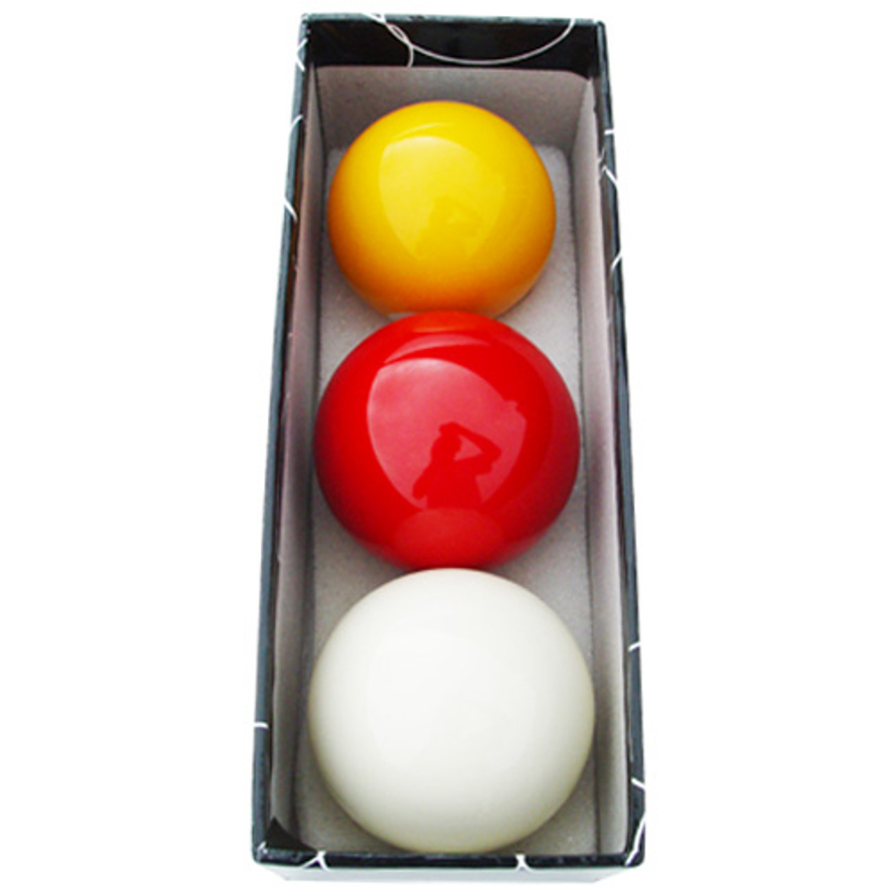 Sterling Carom Balls: White, Yellow, Red