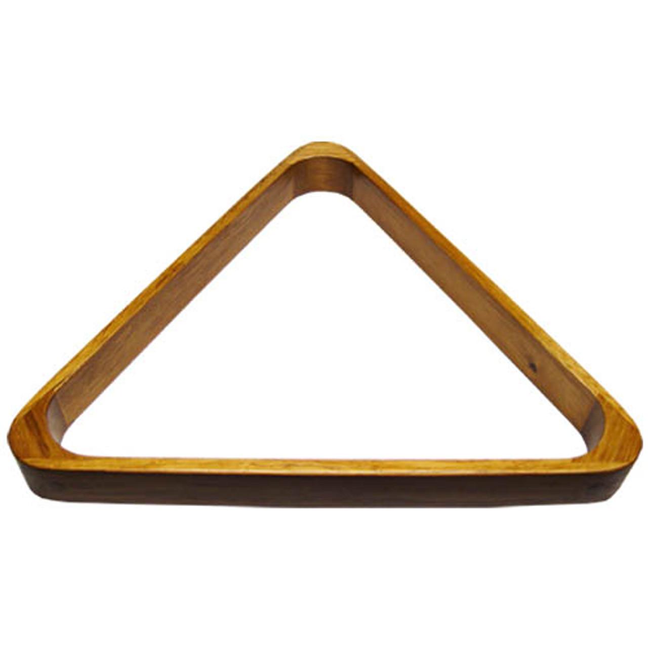Deluxe Wood Pool Ball Triangle, Oak
