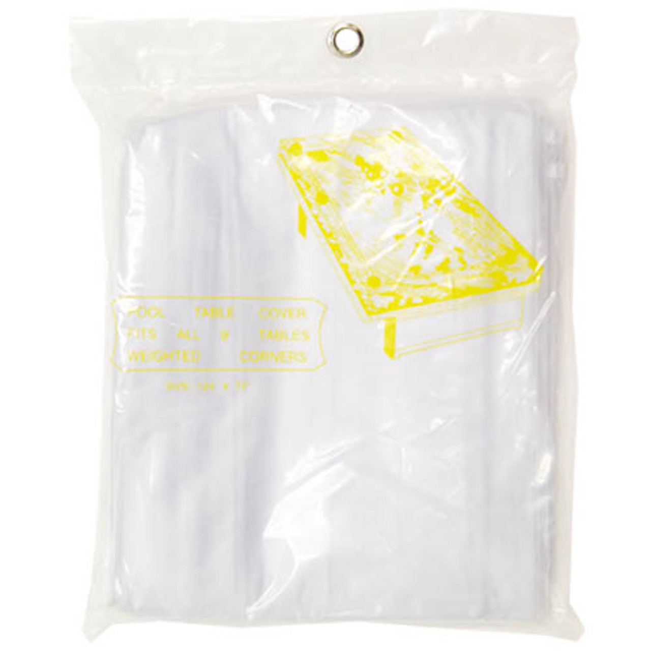 Standard Pool Table Cover, Clear