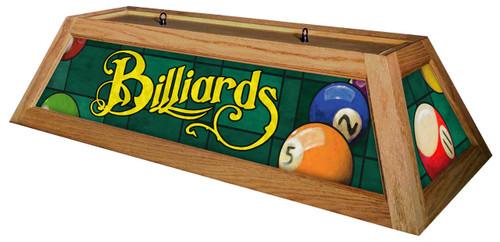 Billiards Green Table Light Oak Frame