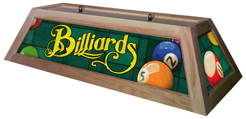 Billiards Green Table Light Unstained Frame
