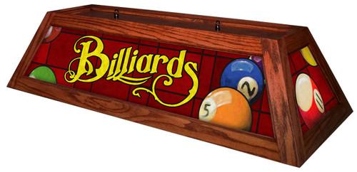 Billiards Red Table Light Brick Frame