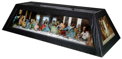 Last Supper Table Light Black Frame