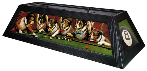 Pool Dogs Table Light Black Frame