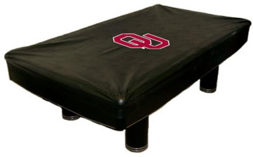 Oklahoma Sooners 9 foot Custom Pool Table Cover