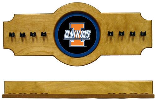 Illinois Fighting Illini 8 Cue Wall Rack