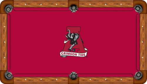 Alabama Crimson Tide 7 foot Custom Pool Table Felt