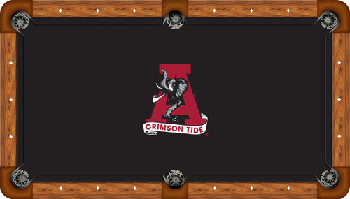 Alabama Crimson Tide 9 foot Custom Pool Table Felt