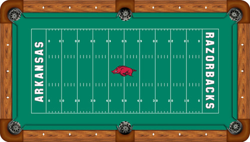 Arkansas Razorbacks 7 foot Custom Pool Table Felt