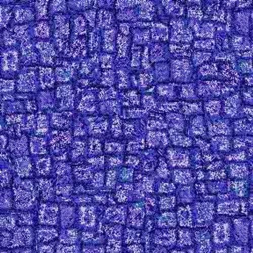 ArtScape Blue Mosaic Pool Table Cloth