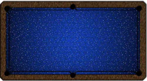 ArtScape Blue Triangles Pool Table Cloth