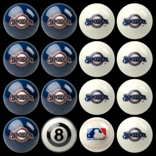 Milwaukee Brewers Pool Balls