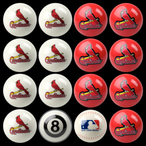 St Louis Cardinals Pool Balls