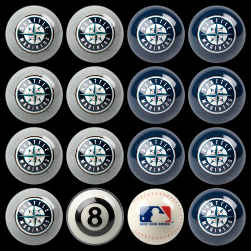 Seattle Mariners Pool Balls