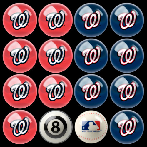 Washington Nationals Pool Balls
