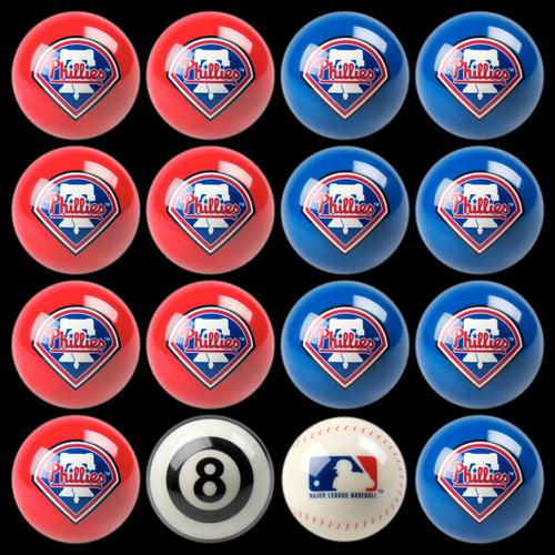 Philadelphia Phillies Pool Balls