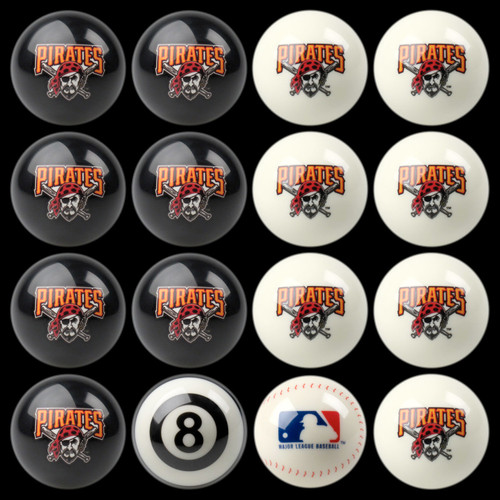 Pittsburgh Pirates Pool Balls