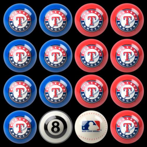 Texas Rangers Pool Balls