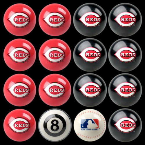 Cincinnati Reds Pool Balls
