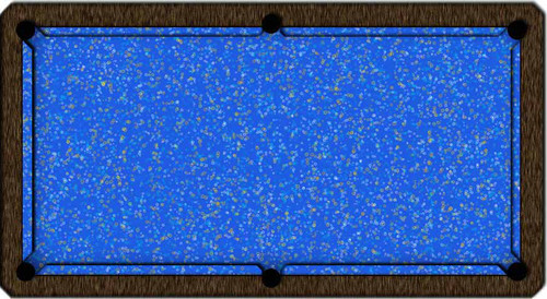 ArtScape Blue Rings Pool Table Cloth
