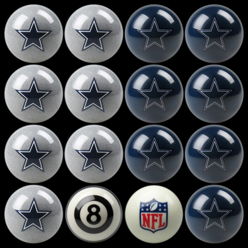 Dallas Cowboys Pool Balls