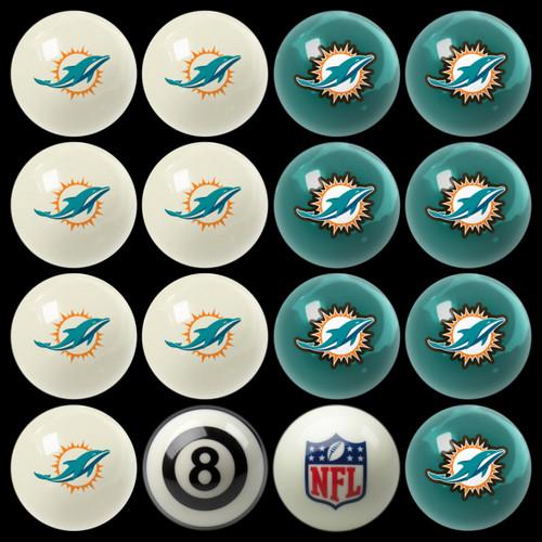 Miami Dolphins Pool Balls