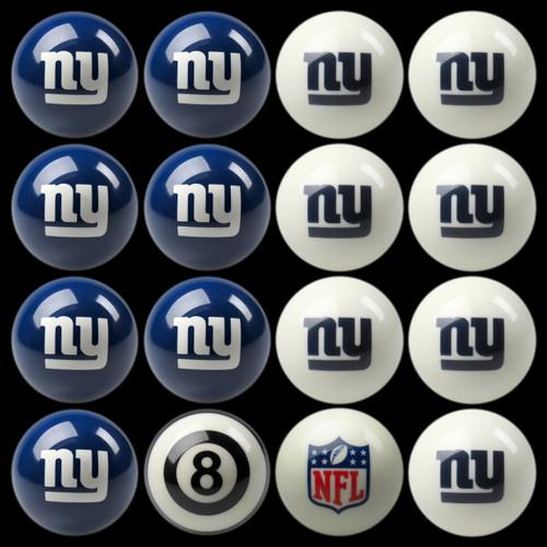 New York Giants Pool Balls