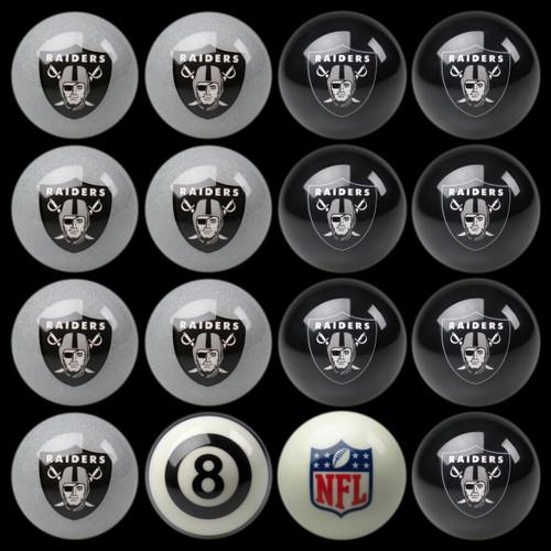 Oakland Raiders Pool Balls