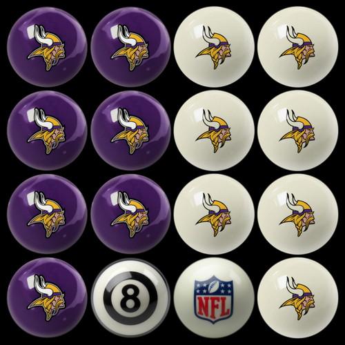 Minnesota Vikings Pool Balls