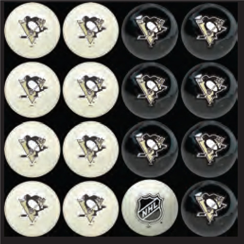 Pittsburgh Penguins Pool Balls