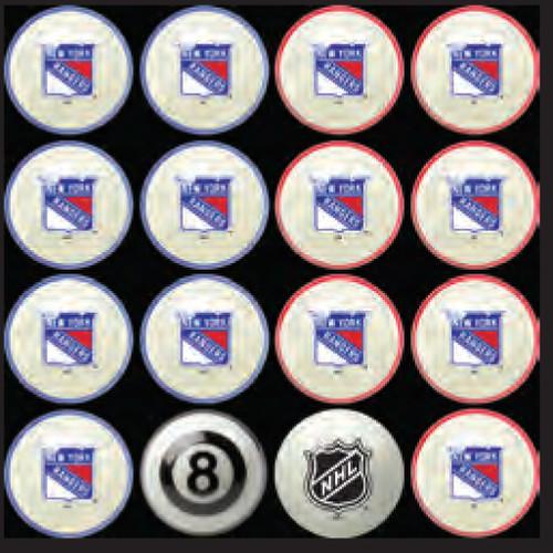 New York Rangers Pool Balls