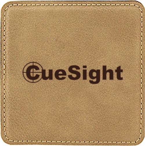 Leatherette Coaster Square - Light
