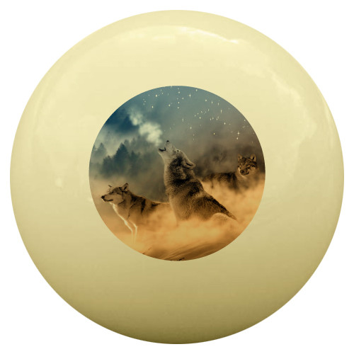 Howling Wolf Cue Ball