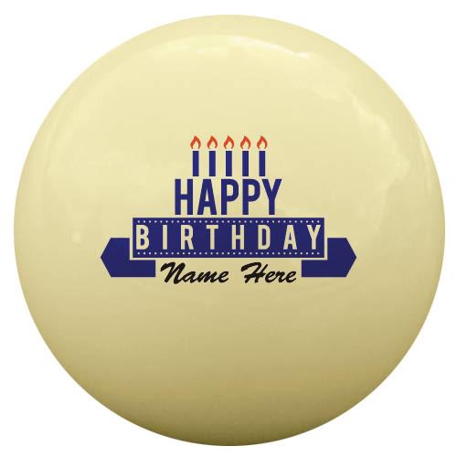 Happy Birthday Cue Ball