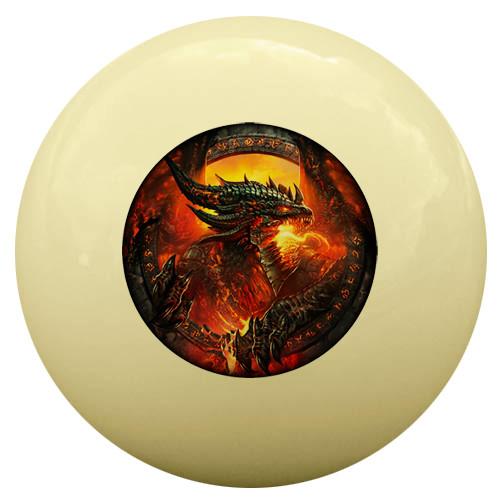 Fire Breathing Dragon Cue Ball