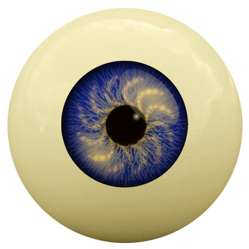 Blue Eye Cue Ball
