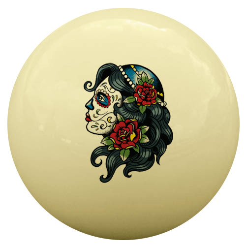 Day of the Dead Cue Ball