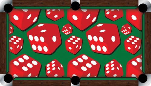 Vivid Dice 7'/8' Pool Table Felt