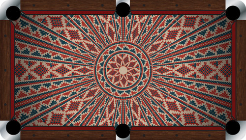 VIVID Ancient 7'/8' Pool Table Felt