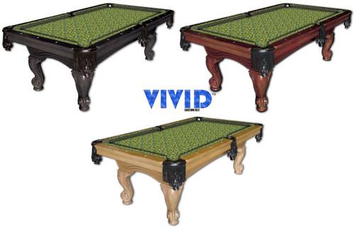 Vivid Peacock 7'/8' Pool Table Felt